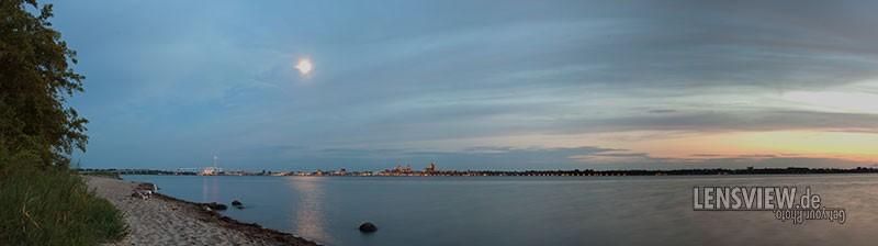 Stralsund bei Sonnenuntergang