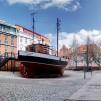 Kutter am Meeresmuseum