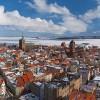Stralsund - Altstadt im Schnee